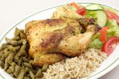 Herb Roasted Cornish Hen With Rice