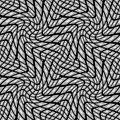 Design Seamless Monochrome Warped Geometric Pattern
