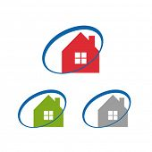 Real estate home icon set
