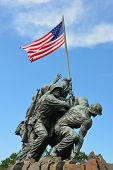 WASHINGTON, DC - APRIL 25, 2014: Iwo Jima Memorial in Washington, DC. The Memorial honors the Marine