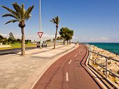 Coastal bike path