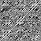 Design Seamless Monochrome Warped Grid Pattern