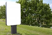 White Blank Billboard