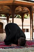 Muslim Praying In Mosque