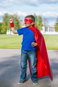 Superhero Standing With Arm Raised