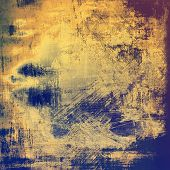 Abstract old background or faded grunge texture. With different color patterns: blue; orange; brown; yellow