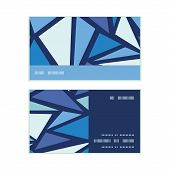 Vector abstract ice chrystals horizontal stripe frame pattern business cards set