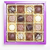 Chocolate Truffles, Pralines, Variety In Box