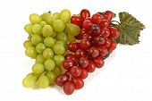 Delicious Green And Red Grapes