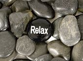 Relax Words Written On Stone