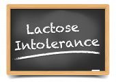 detailed illustration of a blackboard with Lactose Intolerance text, eps10 vector, gradient mesh included