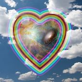 Rainbow Heart Elements of this image furnished by NASA