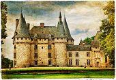 medieval castle , France , artistic picture