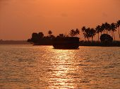 stock photo of alleppey  - Picture taken at the back waters of Alleppey - JPG