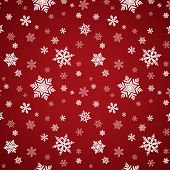 Red Snowflake Seamless Pattern
