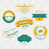 Set of vintage sale labels, stickers and ribbons. Retro design.