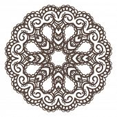 Round pattern, Circular ornament design element, Vector