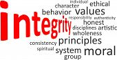 word cloud - integrity