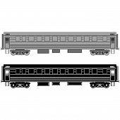 Railway passenger wagon