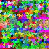 Multicolored odd shapes mosaic illustration