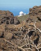 Landscape With Telescope And Rocks In La Palma. Spain