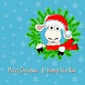 White Sheep And Wreath.eps