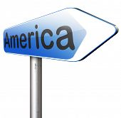 pic of road trip  - America north america or south and central america travel vacation and tourism road trip trough continent road sign  - JPG