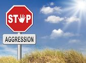 image of stop fighting  - stop verbal or physical aggression - JPG