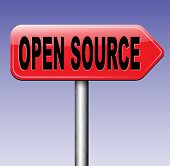 foto of open-source  - open source program software program or economy freeware internet data computer sharing  - JPG
