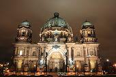 stock photo of dom  - night view of Berliner Dom - JPG
