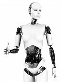 picture of robotics  - Robot woman doing a thumbs up - JPG