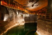 stock photo of salt mine  - Wieliczka salt mine near Krakow in Poland - JPG
