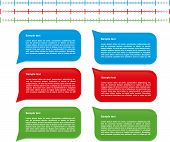stock photo of text-box  - Set of commentary text boxes with simple timeline - JPG