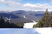 image of snow capped mountains  - Panoramic views of the snow - JPG