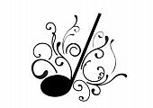 Abstract illustration of a music note