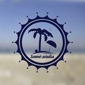 foto of logo  - Logo of summer beach - JPG