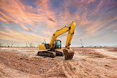 foto of heavy equipment operator  - Heavy earth mover - JPG