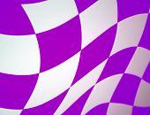Purple Checkered Flag