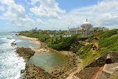 stock photo of san juan puerto rico  - Puerto Rico Capitol  - JPG