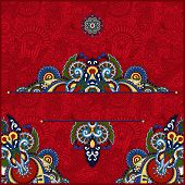 picture of neat  - red invitation card with neat ethnic background - JPG