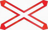 pic of railroad-sign  - Warnkreuz - JPG
