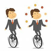 pic of unicycle  - A vector image of a clerk on a unicycle - JPG