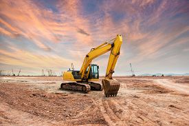 stock photo of power-shovel  - Heavy earth mover - JPG