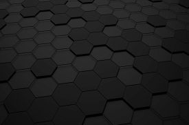 picture of sci-fi  - Abstract 3d rendering of futuristic surface with hexagons - JPG