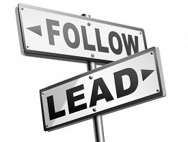 foto of follow-up  - follow or lead following or catch up the natural leader - JPG