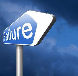 image of fail job  - failure in test or exam fail in a task job or examination - JPG