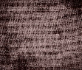 foto of taupe  - Grunge background of deep taupe burlap texture for design - JPG