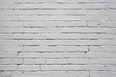 white colored brick wall