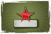 Quadro estrela vermelho e verde. Vetor na minha carteira