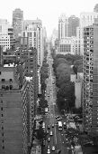 Avenue of Manhattan, New York. View from above